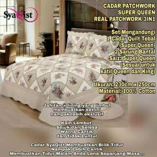 REAL PATCHWORK 3IN1 BEDDING SET