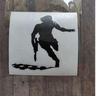 Waterproof Vinyl Winter Soldier Avengers Infinity War laptop sticker