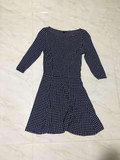 Topshop polka dot skater dress