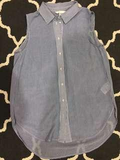 H&M Sleeveless Striped Blouse - Only Worn Once!
