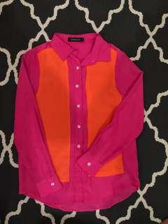 My Apparel Zoo Color-Block Blouse - Like New, Only Worn Once
