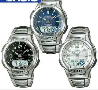 💪💪💪40% Off Brand New Original Casio High Water Resistance Analog Digits Metal Watch-6折全新行貨卡西歐高度防水行針数字鋼錶