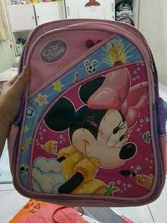 Minnie mouse back pack.