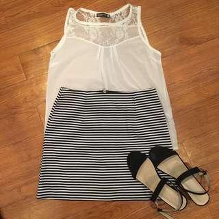 Miss Selfridge Stripe Skirt