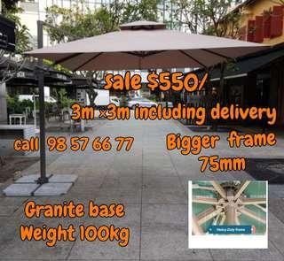 ●DIRECT SUPPLIES  SALE CHEAPER● Brand New  Sunray Outdoor Patio Parasol  3m ×3m & 2.5m ×2.5m Double top very nicely  Umbrella.