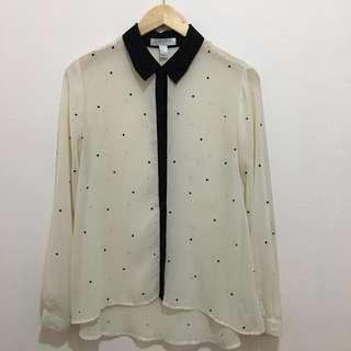 FOREVER 21 embellished long sleeved top