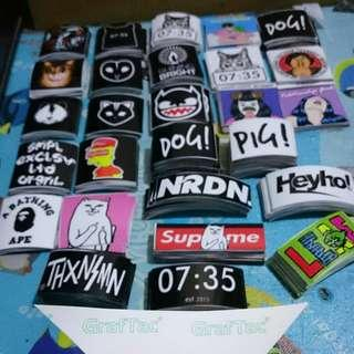 Sticker distro all brand murah