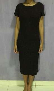 Slim Dress maroon from Cotton On