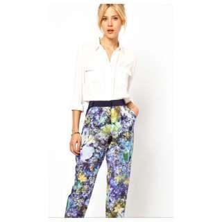 Asos Satin Floral Pants