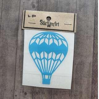 Waterproof Vinyl hot air balloon laptop tumbler sticker