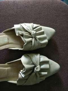 Sepatu heels kotak