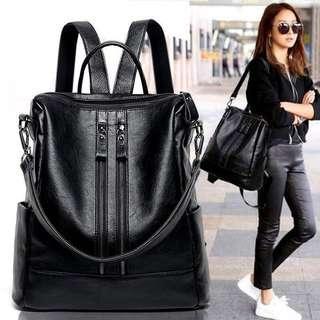🔥🆕現貨 清貨 單肩手袋 雙肩背包 多用途手袋 黑色包包 2way backpack shoulder bag