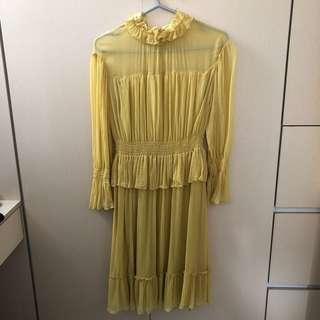 See by Chloe yellow midi Dress