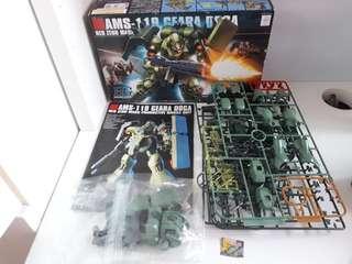 Gundam hg geara doga half build