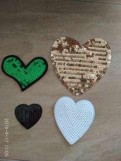Sew on patch - Heart Love 💗💖💝