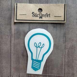 Waterproof Vinyl Idea Light Bulb phone sticker