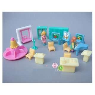 18 piece mini doll classroom playset