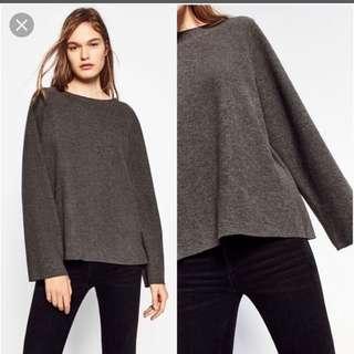 Zara bell sleeve sweater in grey top