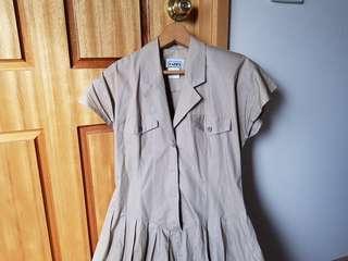Light brown midi dress