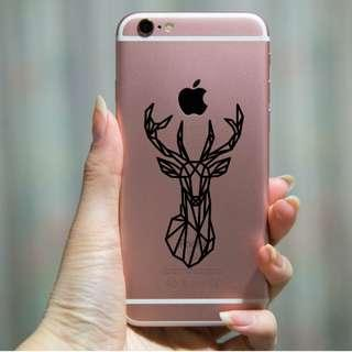 Waterproof Vinyl Geometric Reindeer Animal phone Sticker