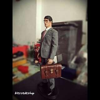 1/6 scale toy brown male brief business case