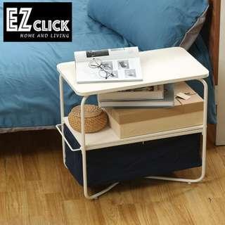 INSTOCK SIDE TABLE W STORAGE BASKET
