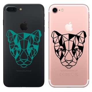 Waterproof Vinyl Geometric Animal Puma phone sticker
