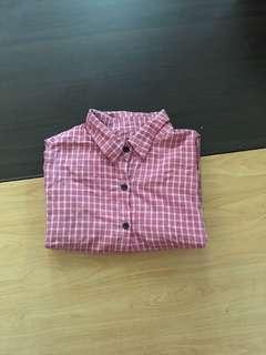 🚚 磚紅格子襯衫