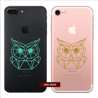 Waterproof Vinyl Geometric Owl phone sticker