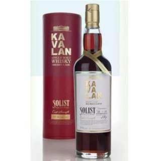 🚚 Kavalan Solist Sherry Single Cask Strength Single Malt Whisky