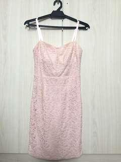 Baby Pink Lace Bodycon Corset Dress