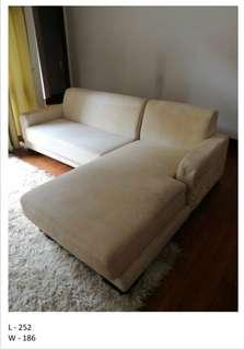 L shape sofa couch