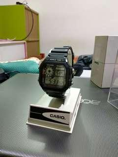 Casio Standard Men's black resin