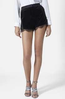(3 for RM80) Topshop Velvet Lace High Waist Shorts #3x100