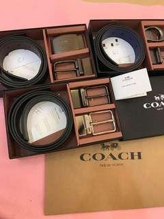 Original coach men belt Set C G H