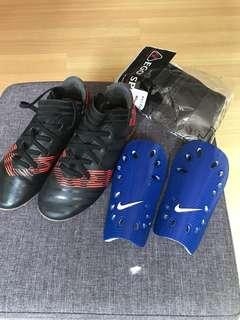 Adidas Football shoes and Nike Knee Guard
