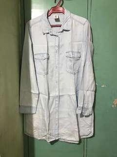 H&M Denim Polo Dress