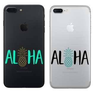 Waterproof vinyl ALOHA pineapple phone car sticker