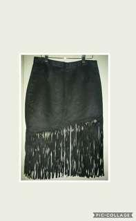 Zara inspired fringe skirt