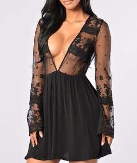 Fashion Nova - Black Mini Dress
