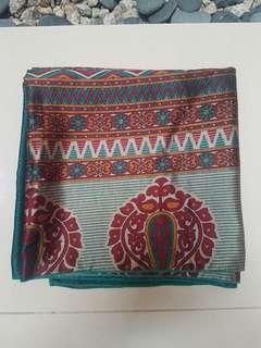 Square scarf saree