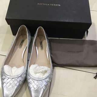 Bottega Veneta silver shoes