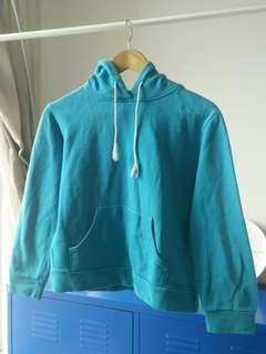 Light blue crop hoodie