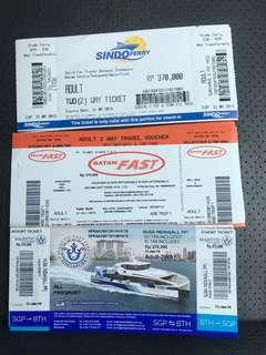 Batam Ferry Physical Tickets and Etickets