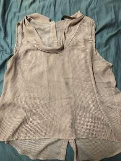 Zara cowl neck top size L