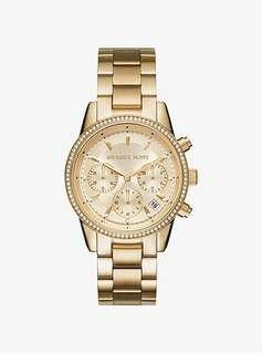 Michael Kors Ritz Pave Gold Watch