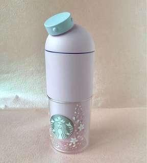 SUPER RARE! Starbucks Korea Cherry Blossom Capsule Water Bottle 490ml