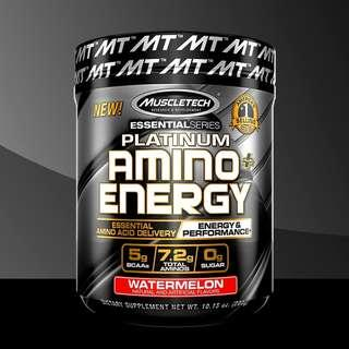 🚚 MuscleTech Platinum Amino + Energy 30 servings