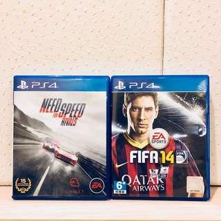 RM40 for 2 PS4 Games (FIFA 14 + Need for Speed Rivals)