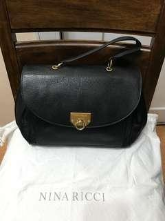 Authentic Nina Ricci Leather Top Handle Bag